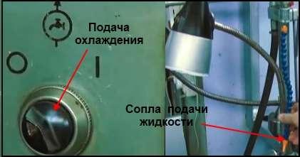 Подача охлаждения токарного станка