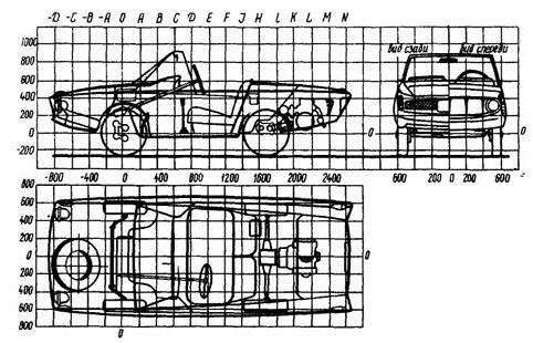 Схема компоновка автомобиля