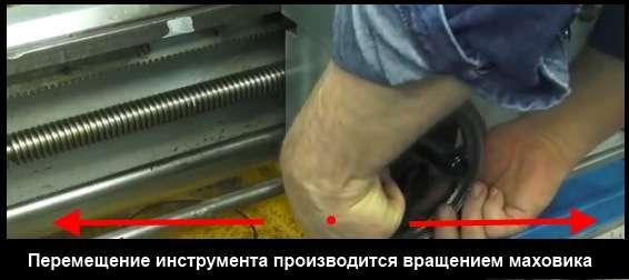 Перемещение инструмента на токарном станке