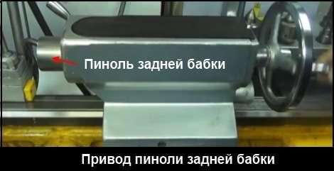 Пиноль задней бабки токарного станка