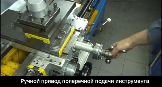 Ручной привод поперечной подачи суппорта